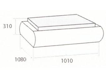 Пуф Кормак (Kormak) c раскладным столиком