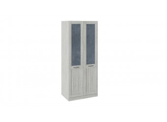 Шкаф для одежды с 2 глухими дверями «Кантри» (Замша синяя/Винтерберг) СМ-308.07.020 (з)