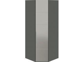 Шкаф угловой с 1-й зеркальной правой дверью «Наоми» (Фон серый, Джут) СМ-208.07.07 R