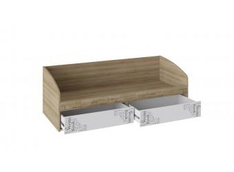 Кровать с 2 ящиками «Оксфорд» (Ривьера/Белый с рисунком) ТД-139.12.01
