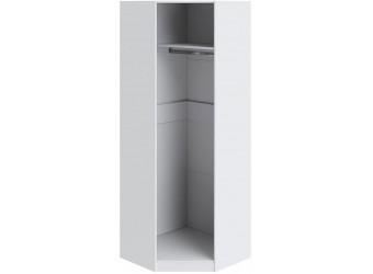 Шкаф угловой с 1-ой дверью с зеркалом «Ривьера» (Белый) СМ 241.23.003
