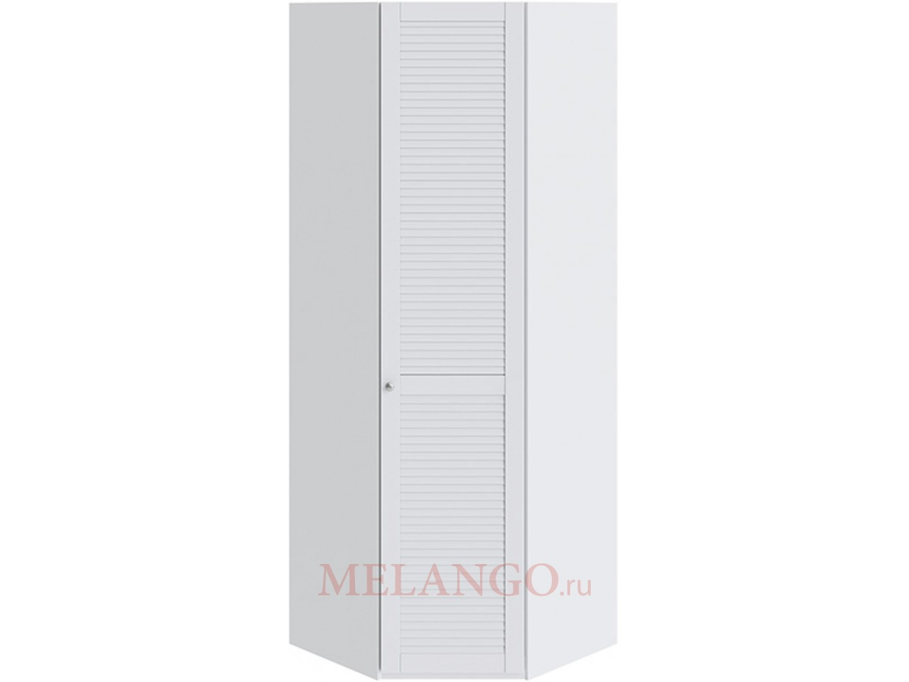 Шкаф угловой с 1-ой дверью правый «Ривьера» (Белый) СМ 241.23.003 R