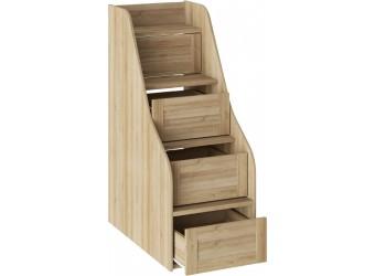 Кровать двухъярусная с приставной лестницей «Ривьера» (Дуб Ривьера) СМ 241.11.12