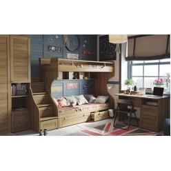 Набор детской мебели «Ривьера»  (Дуб Ривьера) ГН-241.106