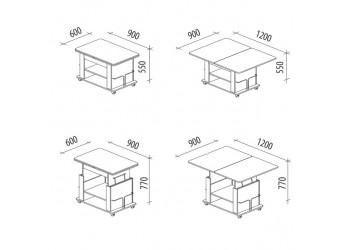 Раздвижной журнальный столик Агат 19.2 дуб венге