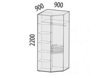 Угловой шкаф для одежды Акварель 53.03