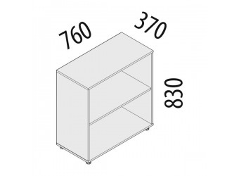 Офисный шкаф Альфа 62.41 (2 секции)