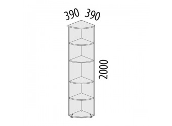 Угловой стеллаж Альфа 62.49