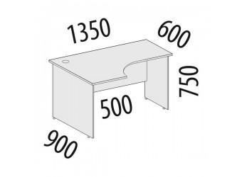 Угловой компьютерный стол Альфа 62.62 левый
