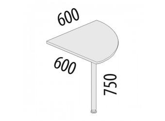 Угловая приставка для стола Альфа 63.12