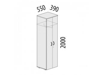 Двухстворчатый шкаф для одежды Альфа 63.43