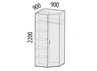 Угловой шкаф для одежды Британия 52.03