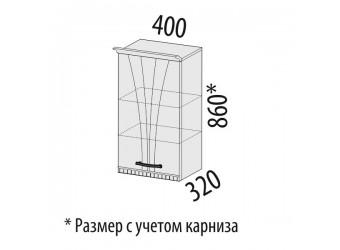Навесной кухонный шкаф Афина 18.03 правый