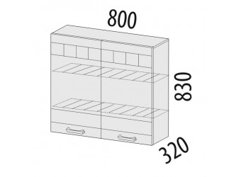 Шкаф-сушка кухонный Аврора 10.02.1