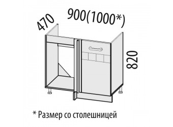 Шкаф под мойку угловой Аврора 10.52.1
