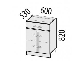 Шкаф кухонный напольный Каролина 11.91 (с системой плавного закрывания)