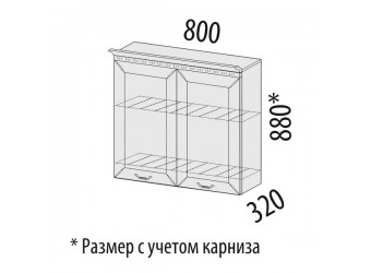 Шкаф-сушка кухонный Оливия 72.02