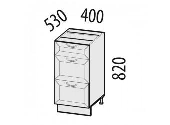 Шкаф кухонный напольный Оливия 72.90 (с системой плавного закрывания)