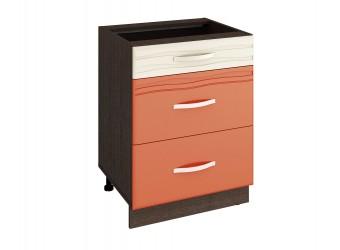 Шкаф кухонный напольный Оранж 09.91 (с системой плавного закрывания)