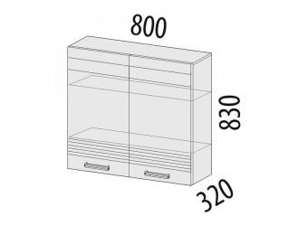 Навесной кухонный шкаф Рио 16.11