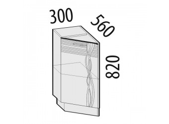 Шкаф кухонный угловой Софи 22.65 левый (торцевой)