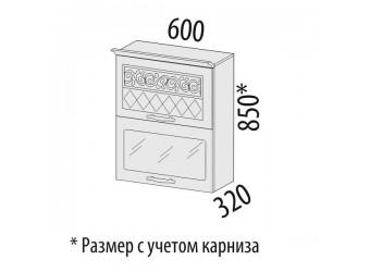 Шкаф-витрина кухонный навесной Тиффани 19.08
