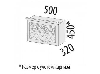 Шкаф кухонный над вытяжкой Тиффани 19.12