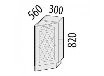 Шкаф кухонный угловой Тиффани 19.64 правый (торцевой)