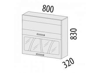 Шкаф-витрина кухонный навесной Тропикана 17.09