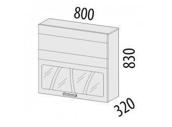 Шкаф-витрина Тропикана 17.81.1 (с системой плавного закрывания)