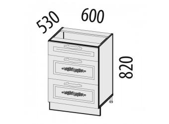 Шкаф кухонный напольный Виктория 20.91 (с системой плавного закрывания)