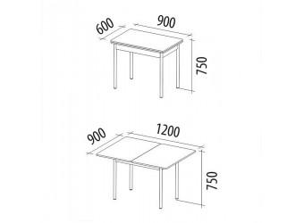 Раздвижной обеденный стол Орфей 1.2 ясень шимо темный