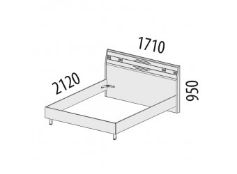 Двуспальная кровать Ривьера 95.01