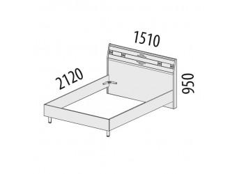 Двуспальная кровать Ривьера 95.02