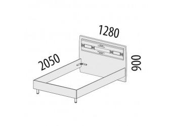 Односпальная кровать Ривьера 95.03.1