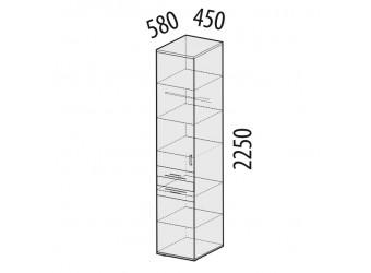 Шкаф-пенал для одежды Ривьера 95.10 левый