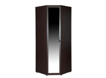 Угловой шкаф для одежды с зеркалом Ривьера 95.09 левый