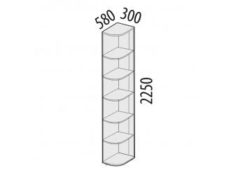 Угловой стеллаж Ривьера 95.16 левый
