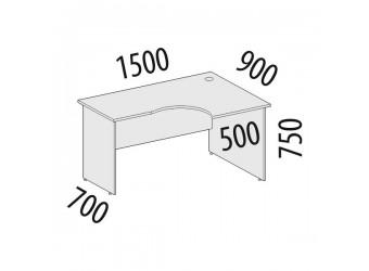 Угловой компьютерный стол Рубин 41.45 правый