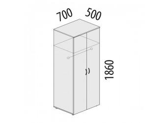 Двухстворчатый шкаф для одежды Рубин 42.33