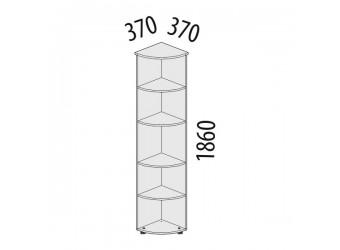 Угловой стеллаж Рубин 42.35