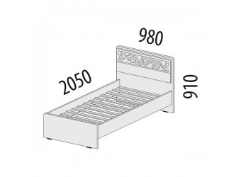 Односпальная кровать Тиффани 93.04