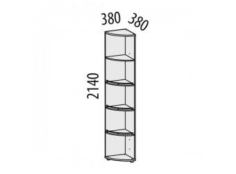 Угловой стеллаж Триумф 36.04 правый