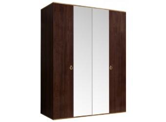 Четырехстворчатый шкаф для одежды с зеркалом Rimini РМШ1/4 (орех орегон)