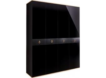 Четырехстворчатый шкаф для одежды Rimini Solo РМШ2/4 (s) (черный)