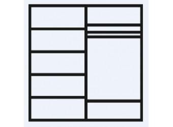 Четырехстворчатый шкаф для одежды с зеркалом Амели АМШ1/4 (ноче)