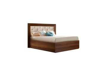 Односпальная кровать с мягкой спинкой Амели АМКР120-6 (ноче)