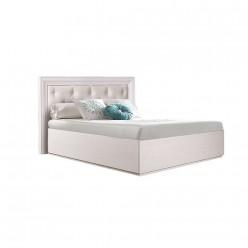 Односпальная кровать с подъемным механизмом Амели АМКР120-6[3] с мягкой спинкой (дуб)
