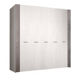 Пятистворчатый шкаф для одежды Челси Элеганс ЧШ2/5(Э) (дуб, серый)