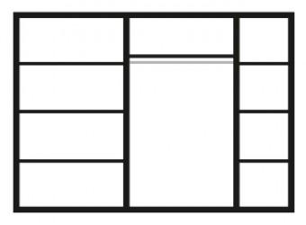 Пятистворчатый шкаф для одежды Карина-3 К3Ш2/5 с шелкографией (бежевый)